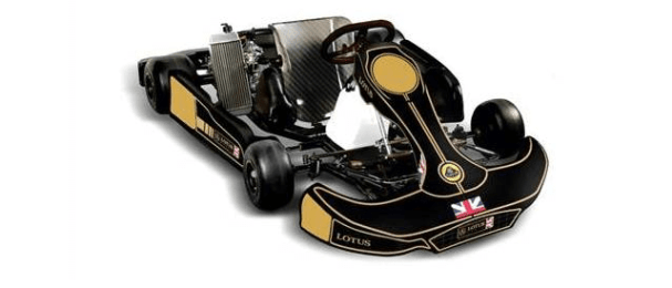Kart decked out in Lotus' historical black and gold livery - Photo Credit: Group Lotus