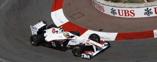 Sergio Perez before his accident during qualifying in Monaco - he had made it through to Q3 before crash - Photo Credit: Sauber Motorsport AG