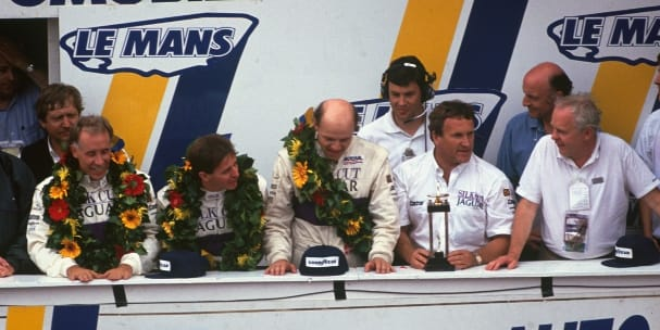 1990 24 Hours of Le Mans podium (Photo Credit: Nissan)