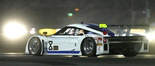 The no.8 Starworks entry races through the Daytona night (Photo Credit: Grand-Am)