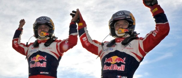 Daniel Elena and Sebastien Loeb (Photo Credit: Citroen Racing Media)