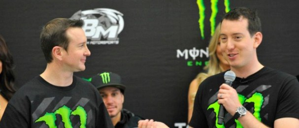 Kurt and Kyle Busch at a KBM Event (Photo Credit: Monster Energy)