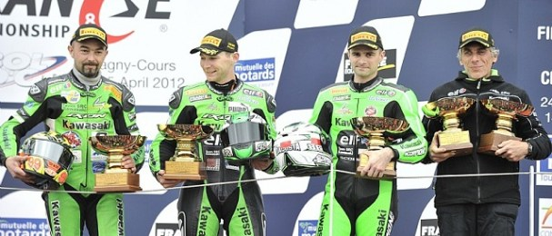 The victorious Kawasaki SRC team - Photo Credit: Kawasaki