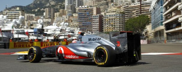 Jenson Button was the fastest man in FP2 this afternoon in Monaco - Photo Credit: Vodafone McLaren Mercedes