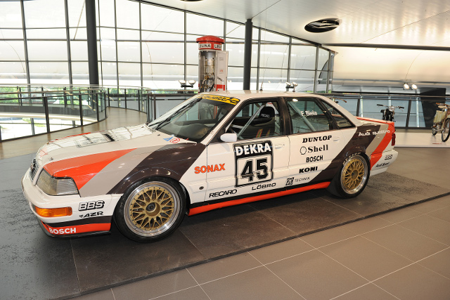 The new exhibition showcases cars from Audi's DTM past (Photo Credit: Audi Motorsport)