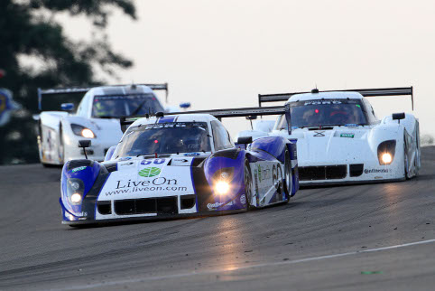 Ozz Negri led for Michael Shank after an early strategy call, but lost out late on (Photo Credit: Grand-Am)