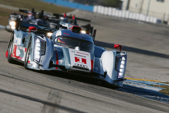 Treluyer started well for Audi, McNish found trouble in the sister car (Photo Credit: Audi Motorsport)