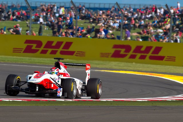 A well judged restarted sent Harvey on his way to victory (Credit: Malcolm Griffiths/GP3 Media Service)