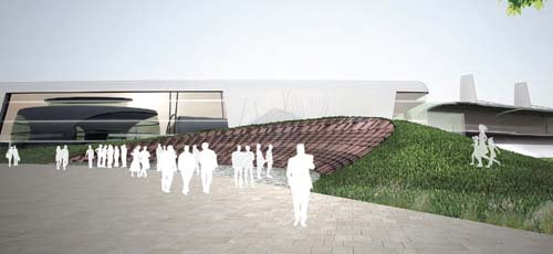 An artist's impression of the new Wall of Fame (Credit: Silverstone)