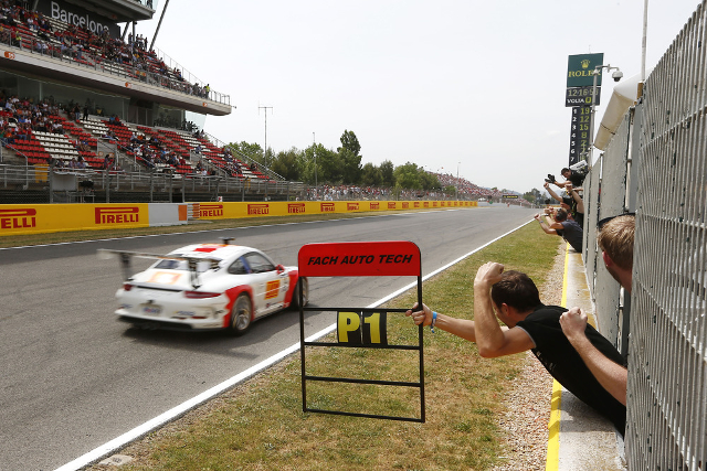 The Kiwi opened the Supercup season with a win (Credit: Porsche AG)