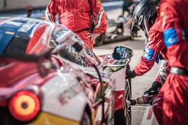Ferraris were on top in GTE. Credit: Adrenalmedia.com