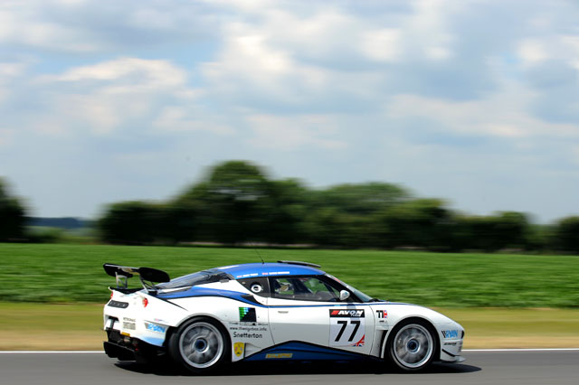 Oz Yusuf's Lotus Evora scored a double pole at the team's home race. (Credit: Avon Tyres British GT Championship)