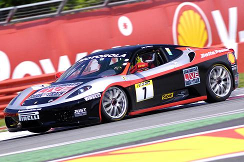 Davenport Got Behind The Wheel Of The Team's Ferrari F430 Challenge Car
