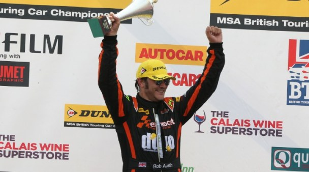 Two podiums went Austin's way (Photo: btcc.net)