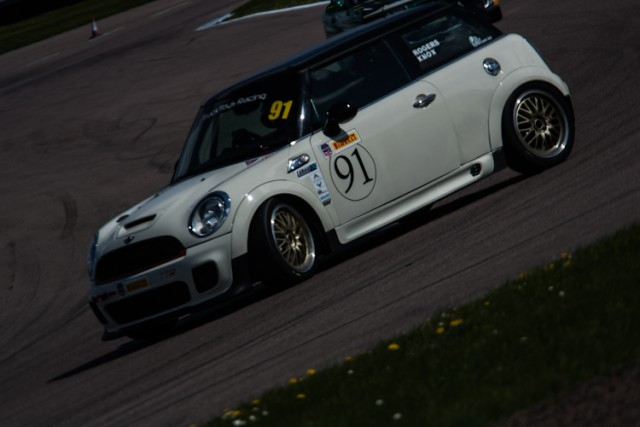 The MINI Cooper of The Odd Couple performed admirably throughout the 360 Motor Racing Club All Comers event.