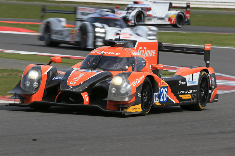 A 1-2 in LMP2 completed a dominant weekend at Silverstone for G-Drive Racing (Credit: Octane Photographic Ltd)