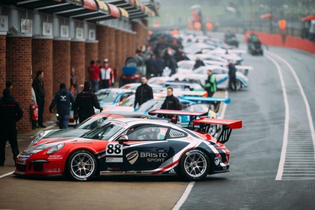 Zamperelli (first) was victim of race two shunt (Credit: Porsche Media GB)