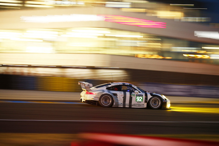 His Le Mans drive wasn't as successful as Tandy's, retiring after an hour (Credit: Porsche AG)