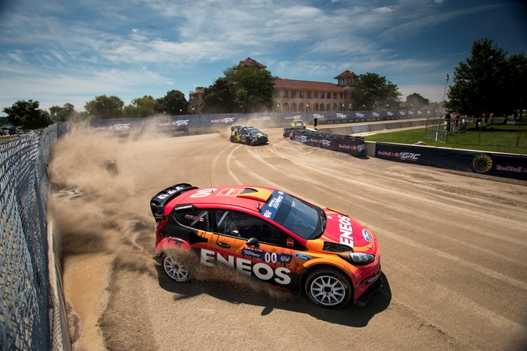 Steve Arpin never failed to reach the final in 2015 - Credit: Larry chen/Red Bull Global Rallycross