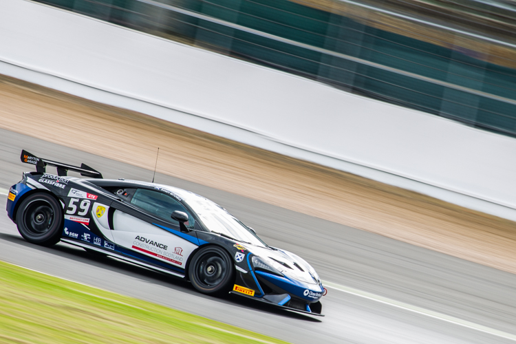 The Ecurie Ecosse McLaren 570S gave their opposition no quarter as they claimed pole position (Credit: Nick Smith/TheImageTeam.com)