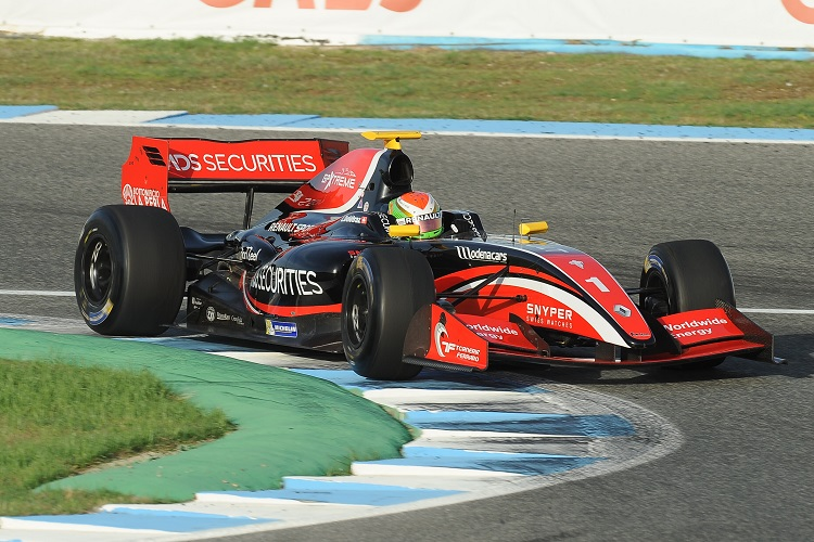 Louis Deletraz was in contention until the final lap of the season - Credit: Formula V8 3.5