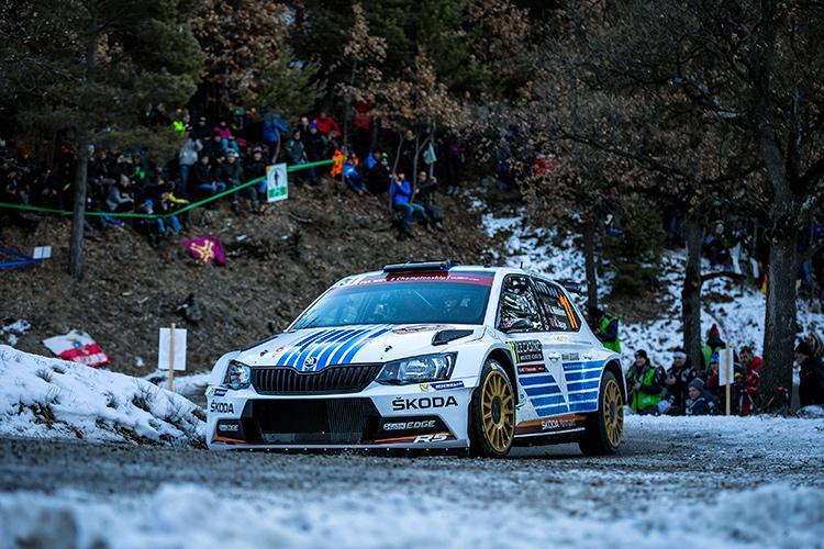 Andreas Mikkelsen didn't take long to get up to speed in the Skoda - Credit: Skoda Motorsport