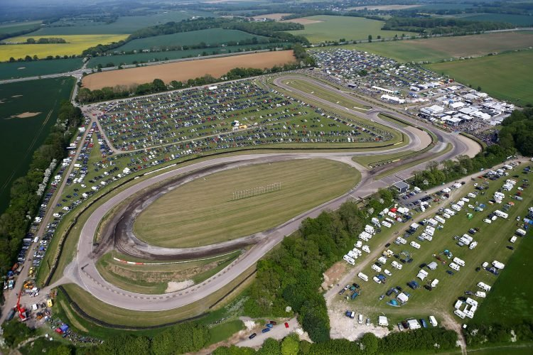 """The """"home of rallycross"""", Lydden Hill Circuit, as seen from above"""