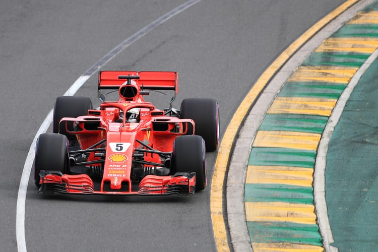 Sebastian Vettel during qualifying for 2018 Australian GP