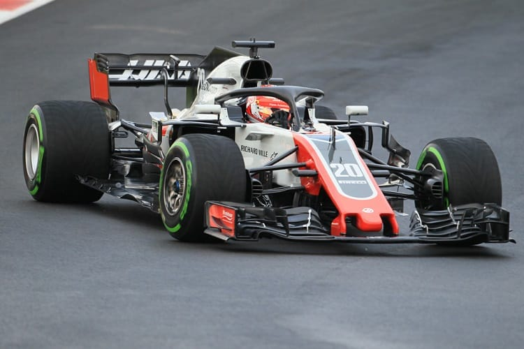 Haas lost a lot of track time due to the weather in Spain