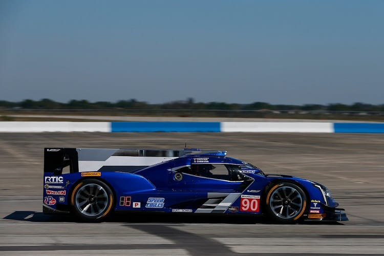 Tristan Vautier took pole position at Sebring for Spirit of Daytona Racing