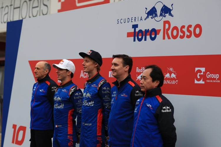 Tost (far left) believes Toro Rosso-Honda can be a successful partnership.