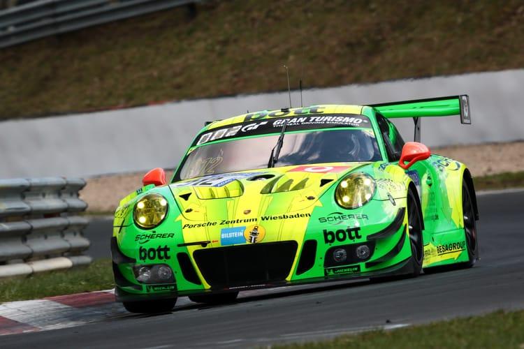 24 Stunden Nürburgring 2018, Qualifikationsrennen, Nürburgring-Nordschleife - Foto: Gruppe C Photography; #912 Porsche 911 GT3 R, Manthey Racing: Richard Lietz, Fred Makowiecki