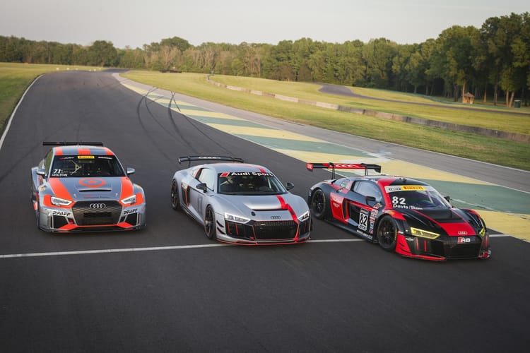 Audi RS 3 LMS, Audi R8 GT4, Audi R8 LMS
