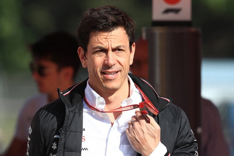 Toto Wolff has a walk