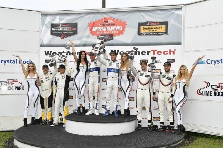 Ford GT Team, Corvette Racing, Porsche GT- Lime Rock Podium GT-LM