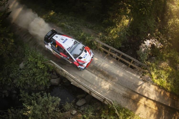 Ott Tanak (EST) performs during FIA World Rally Championship 2018 in Jyvaskyla, Finland on 27.07.2018