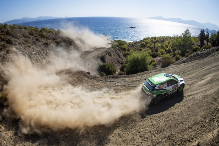 Jan Kopecky (CZE) performs during FIA World Rally Championship 2018 in Marmaris, Turkey on September 15, 2018