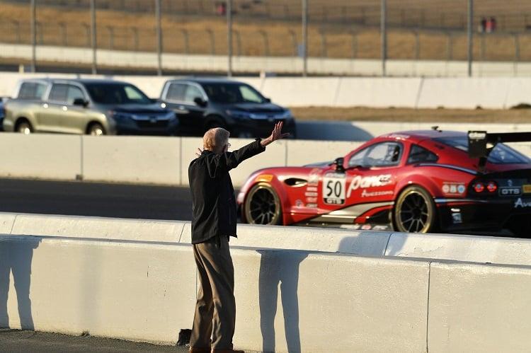 Don Panoz enjoying racing from trackside
