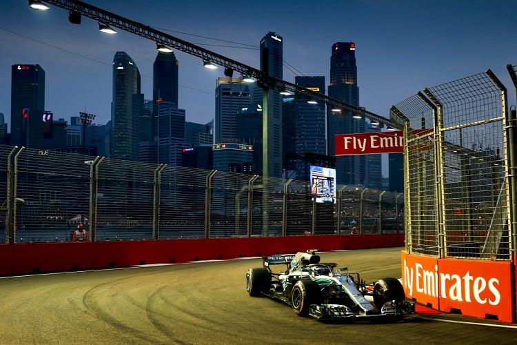 Valtteri Bottas - Mercedes AMG Petronas Motorsport - Marina Bay Street Circuit