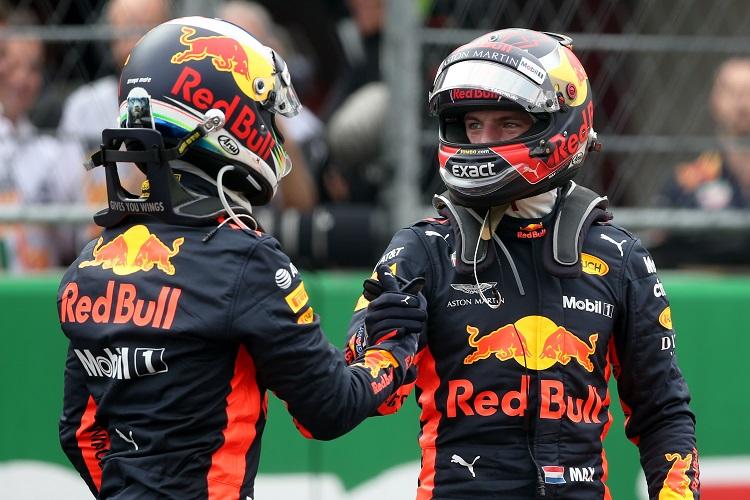 Daniel Ricciardo & Max Verstappen - Aston Martin Red Bull Racing - Autodromo Hermanos Rodriguez