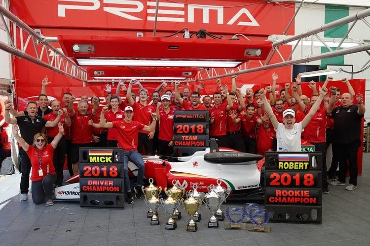 PREMA Title Celebrations Hockenheim II