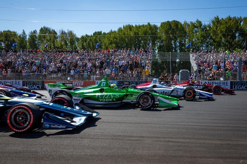 2018 Verizon IndyCar Series, Grand Prix of Portland, Portland International Raceway, Start