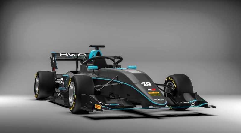 HWA RACELAB - F3 2019 car launch