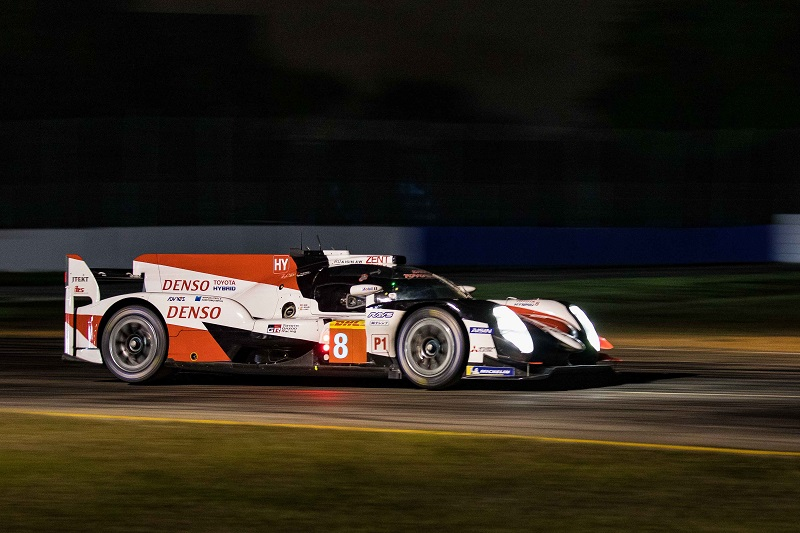 Fernando Alonso claimed a new lap record at Sebring on his way to helping Toyota Gazoo Racing take their sixth consecutive one-two of the season.