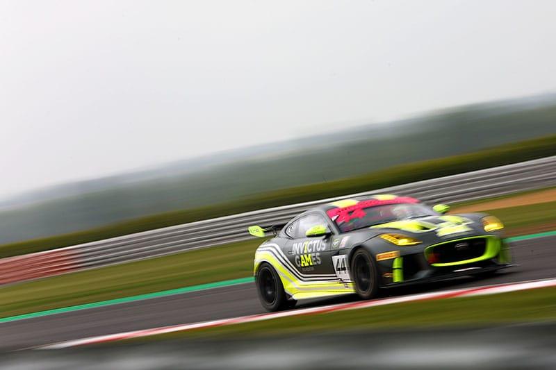 The Jaguar F-Type SVR GT4 of Invictus Games Racing