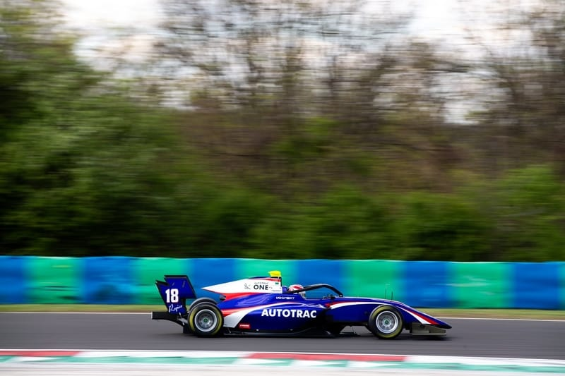 Pedro Piquet - Trident - on the second day of the third Pre-Season Test for the 2019 FIA Formula 3 Championship at the Hungaroring, Budapest.