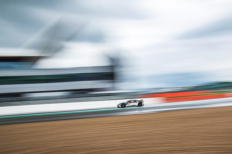 The Beechdean AMR Aston Martin Vantage GT4 of Kelvin Fletcher and Martin Plowman at the Wing at Silverstone.