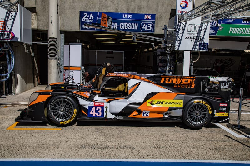 The RLR M Sport/Tower Events #43 LMP2 entry for 2019 24 Hours of Le Mans