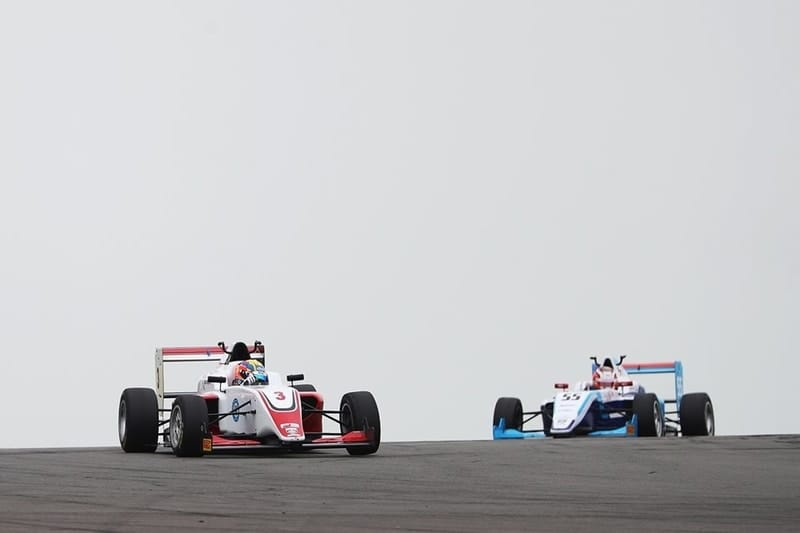 Johnathan Hoggard leads race three at Donington Park