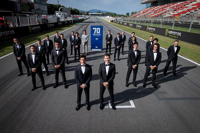 MotoGP Riders Celebrate 70th Anniversary